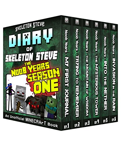 Diary of Minecraft Skeleton Steve the Noob Years - FULL Season One (1): Unofficial Minecraft Books for Kids, Teens, & Nerds - Adventure Fan Fiction Diary ... - Bundle Box Sets 6) (English Edition)