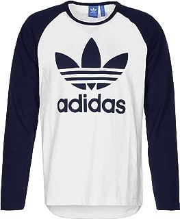 Men's Trefoil Long Sleeve Logo Tshirt XS White