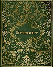 Grimoire: Magickal Book of Shadows For Recording Spells, Rituals, Esbat Celebrations and More | Green Gold Print