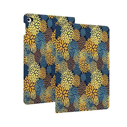 Funda para iPad de 10,2 pulgadas (7ª generación), diseño floral de belleza elegante con pétalos y hojas, estilo botánica Kitsch ilustración decorativa superfina y ligera función atril con Auto S