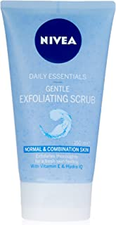 NIVEA Daily Essentials Gentle Exfoliating Face Scrub with Cleansing Vitamin E & Hydra IQ for Normal & Combination Skin, 150ml
