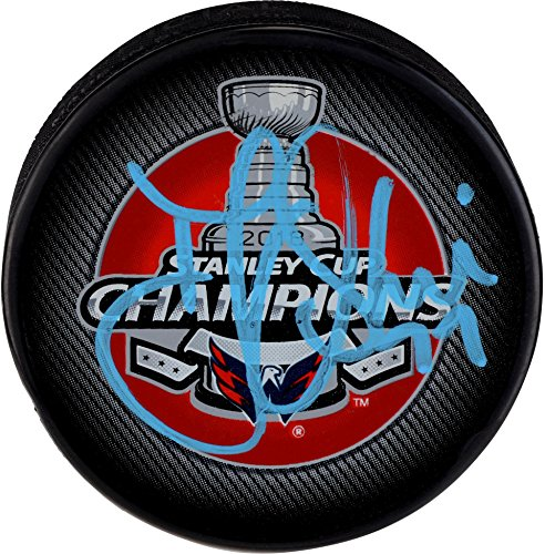 T.J. Oshie Washington Capitals 2018 Stanley Cup Champions Autographed Stanley Cup Champions Logo Hockey Puck - Fanatics Authentic Certified