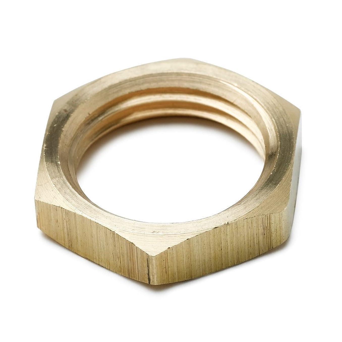 Tompkins 3120-12 Pipe Fitting, Pipe Locknut, 3/4-14, Brass