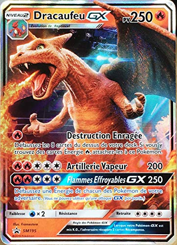 Pokemon Company International Carte Pokémon SM195 Dracaufeu GX 250 PV - Full Art Neuf FR