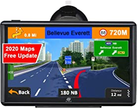 "E-ACE GPS Navigation for Car 7"" Touchscreen 8GB Memory Vehicle GPS Navigator System Real Voice Spoken Turn Direction Reminding GPS for Car with Lifetime Free Map Update (G745)"