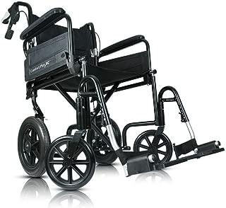 "Airgo comfort plus xc transport chair, 12"" wheels, Black Wheelchairs, 21 Pound"
