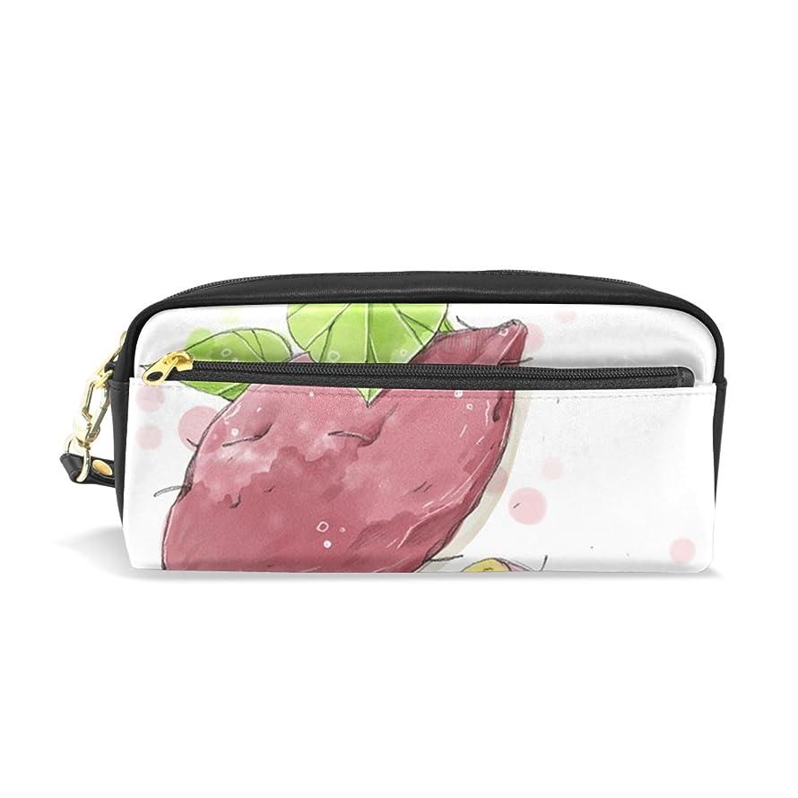 平均僕の合意AOMOKI ペンケース 化粧ポーチ 小物入り 多機能バッグ レディース サツマイモ ブラック