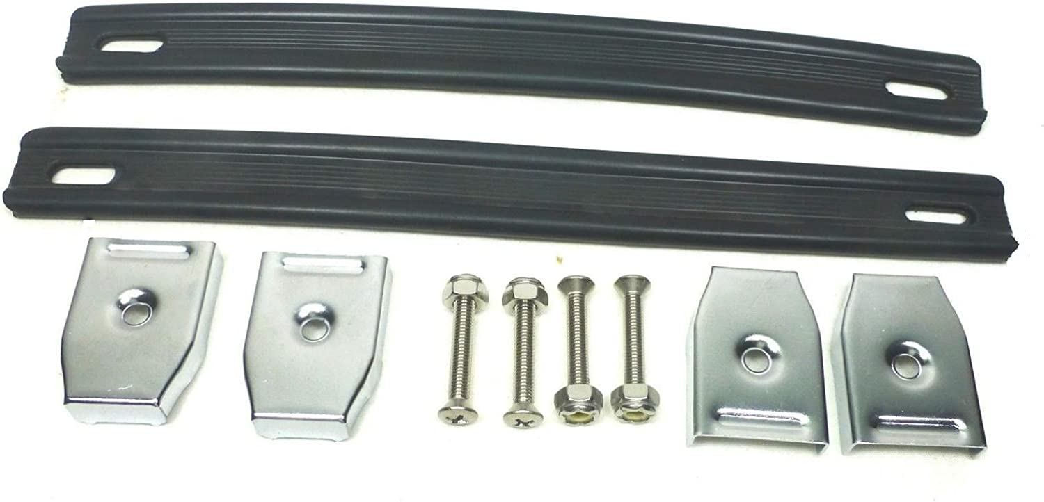 2 Two Black Heavy Direct sale of manufacturer Duty Ranking TOP20 Handles Strap Chrome with Ends.