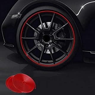 Aizfa 8M Motor Car Reflective Wheel Hub Tire Rims Protective Sticker Decal Accessories