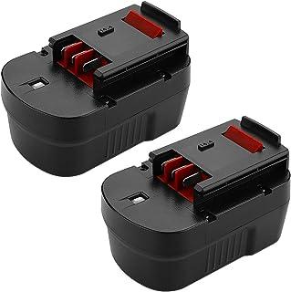 Powilling - Batería de repuesto para Black+Decker HPB14 FireStorm HPB14 FSB14 FS140BX 499936-34 499936-35 A14 A144EX A1714 BD1444L HPD14K-2 CP14KB HP146F2 HP148F2R (2 unidades)