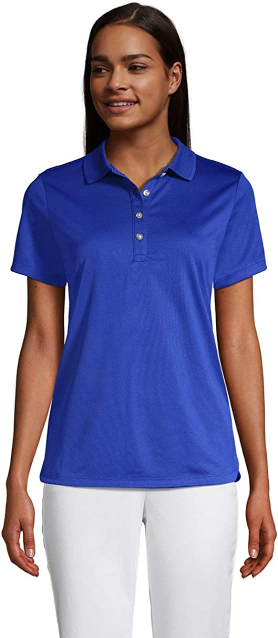Lands' End Women's Short Sleeve Solid Active Polo