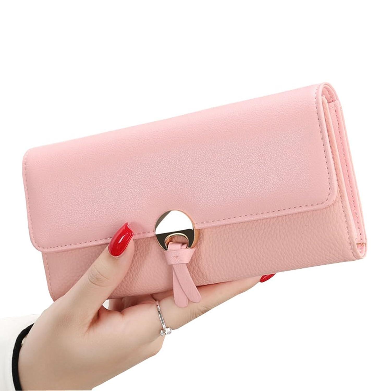 長財布 レディース 大容量 多機能 三つ折り 人気 おしゃれ ウォレット カード収納 小銭入れ 写真入れ 軽量 無地 19.2*10.2*3CM 全5色