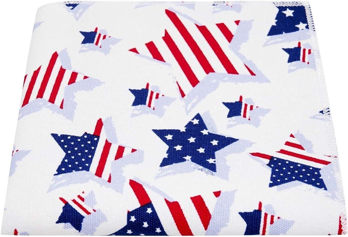 USA Stars & Stripes Pocket Square, Mens Handkerchief, America Hanky