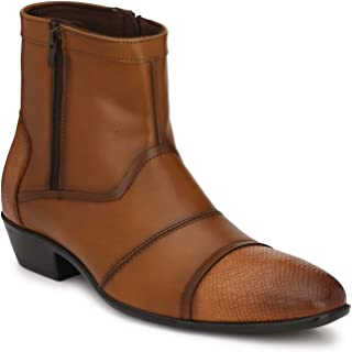 Delize Black/Tan Syth. Leather Chelsea Boots for Men's