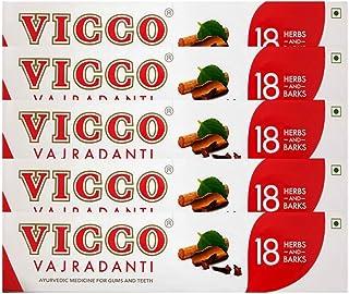 Vicco Vajradanti ToothPaste 100gm Ayurvedic For Gum and Teeth (Pack of 5)