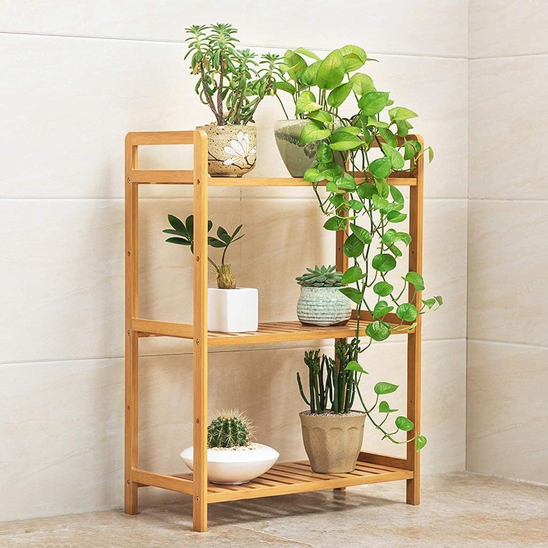 SLH 3-Layer Length 50cm Floor-stanging Balcony Flower Shelf Living Room Potted Flower Rack