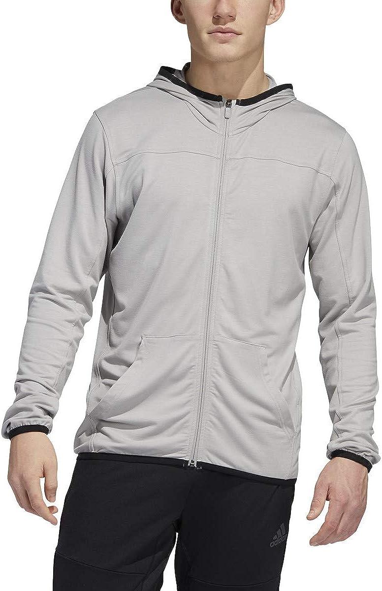 New Orleans Mall adidas male city Inexpensive studio full-zip fleece hoodie