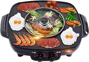 SANJIANG Barbecue Coréen Hot Pot Double Pot Cuisinière Intégrée Hot Pot électrique Barbecue électrique Pan De Cuisson élec...