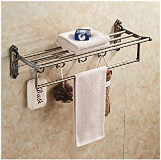 LUKEEXIN Towel Rack Stainless Steel Towel Rack Bathroom Bathroom Shelf Wall Hanging Pendant (Color : 002)