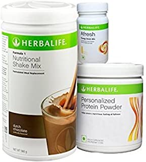 Herbalife Formula 1 Weight Loss Program - Diet Nutritional Shake Protein Powder Mix, Natural Organic Meal Replacement Shakes for Men and Women