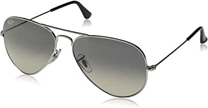 New Ray Ban Aviator RB3025 003/32 Silver/ Crystal Grey Gradient 55mm Sunglasses