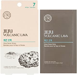The Face Shop Jeju Volcanic Lava Aloe Nose Strips 7 Pack, 7 count Pack of 7