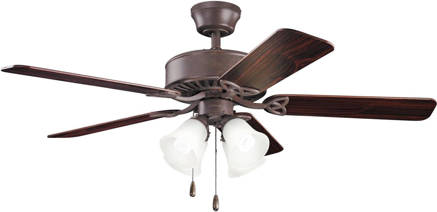 Kichler 339240tz Renew Premier Tannery Bronze 50 Ceiling Fan With Light Amazon Com