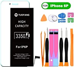 3350mAh Battery Compatible for iPhone 6 Plus, TuoFang High Capacity Lithium-ion Replacement Battery with Professional Full Set Tool Kits and Screen Protector