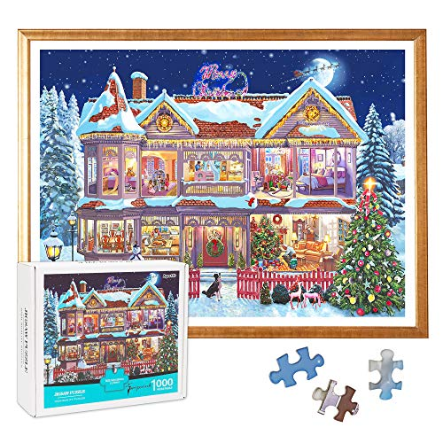 "Jigsaw Puzzles for Adults, 1000 Piece Puzzles, Carnival Christmas Eve Large Puzzle Game Artwork, Educational Intellectual Decompressing Fun Game for Kids Adults Toy, 20"" x 15"""