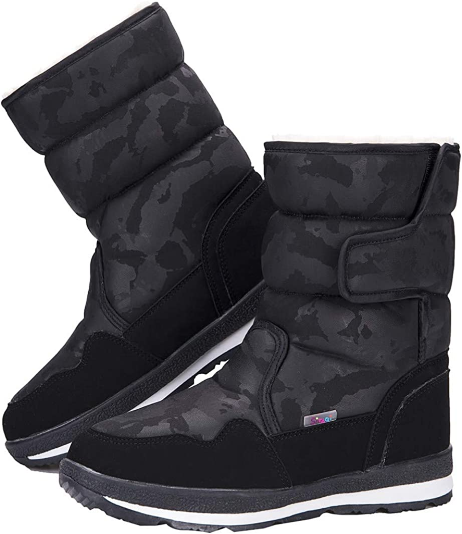 Columbus Mall DADAWEN Girl's Boy's Waterproof Outdoor Snow Cold Popular brand Boots Weather