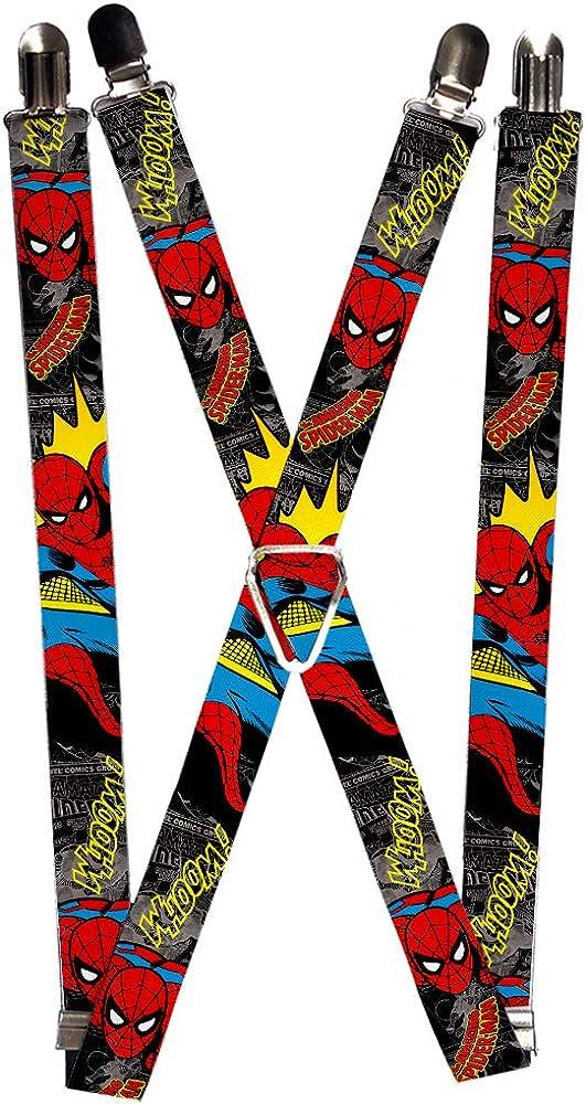 Buckle-Down Men's Marvel Comics Suspenders-Spider-Man in Action W/Amazing Sp