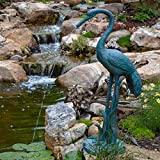Aquascape 78313 Crane with Lowered Head Pond and Garden Water Fountain, Patina...