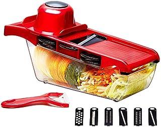 LIANYANG Mandoline multifonctionnelle de cuisine de coupeur de légume de coupe-légumes,nourriture avec le récipient de sto...
