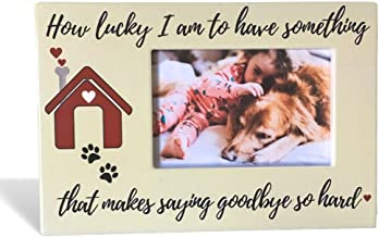 Pet Frame for The Passing of a Dog or Cat - How Lucky I Am to Have Something That Makes Saying Goodbye So Hard - Pet Memorial Plaque
