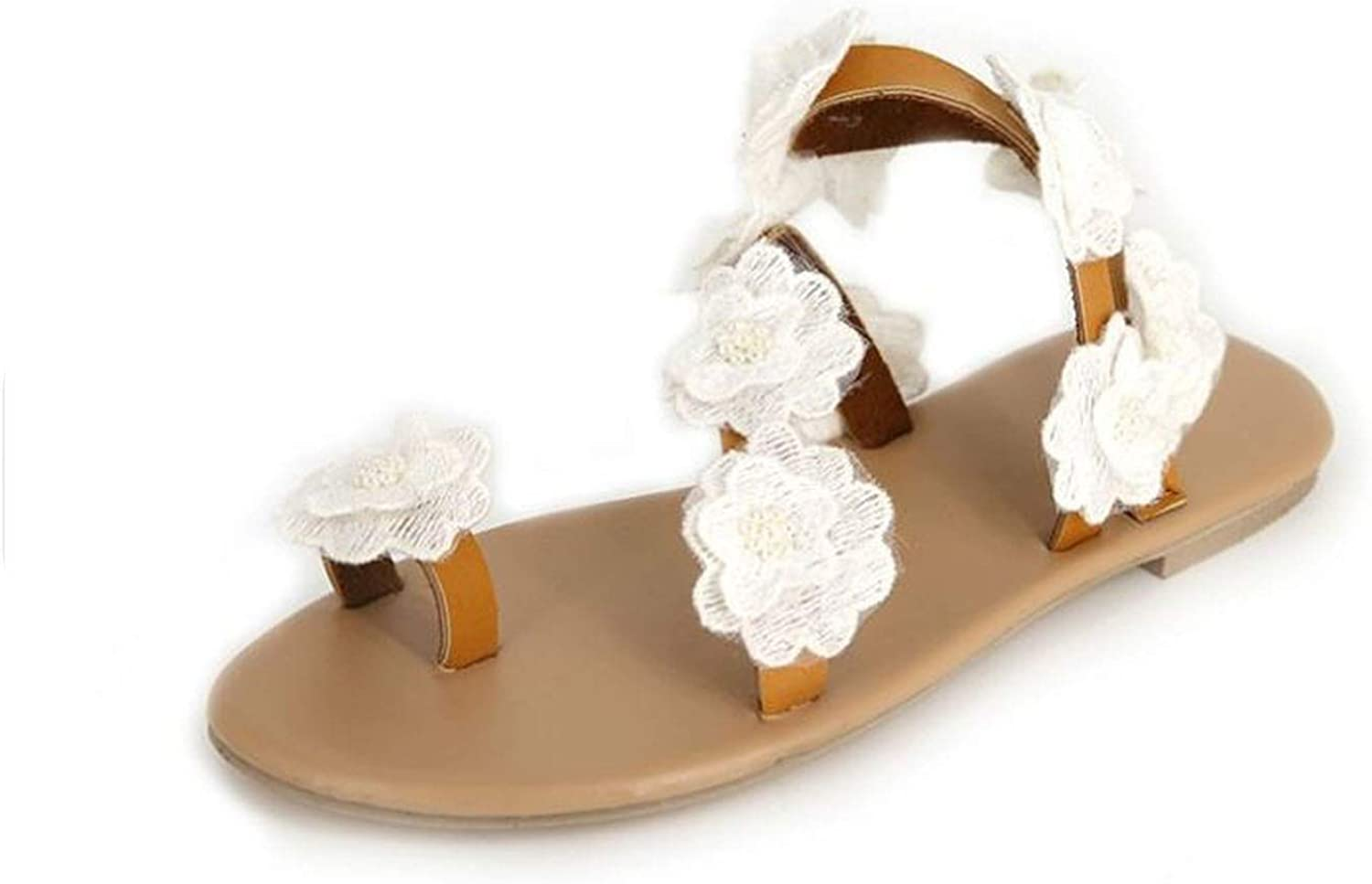 Floral Sandals Slip On Gladiator Flats shoes Women Club Summer Beach shoes Holiday Sandals