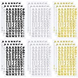 18 Sheets Iron-on Letters 0.75 Inch Heat Transfer Letters Adhesive Letters DIY Fabric Vinyl Alphabets for Clothing Printing Crafts Decorations (Black, Silver, Gold)