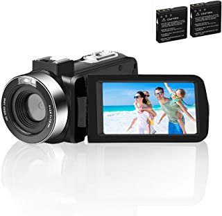 Video Camera Camcorder Comkes Digital vlogging Camera for YouTube Full HD 1080P 30FPS 30.0MP 18X Digital Zoom Camcorder wi...