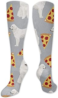 Xarchy, Calcetines de compresión Great Pyrenees Pizza para Hombres y Mujeres: los Mejores para Correr, Hacer Deporte, Medicina, Embarazo y Viajes