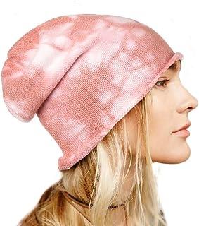 بوهيند شتاء محبوك قبعة صغيرة دافئة مصبوغ قبعة قبعة صغيرة لينة تمتد كابل اكسسوارات الشعر للنساء والفتيات الوردي