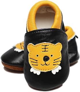 VASHCAME-Baby's Prewalker of Soft Leather Non-Slip Breathable Sneaker Toddler Shoes for Newborn Children Boy Girl Infant