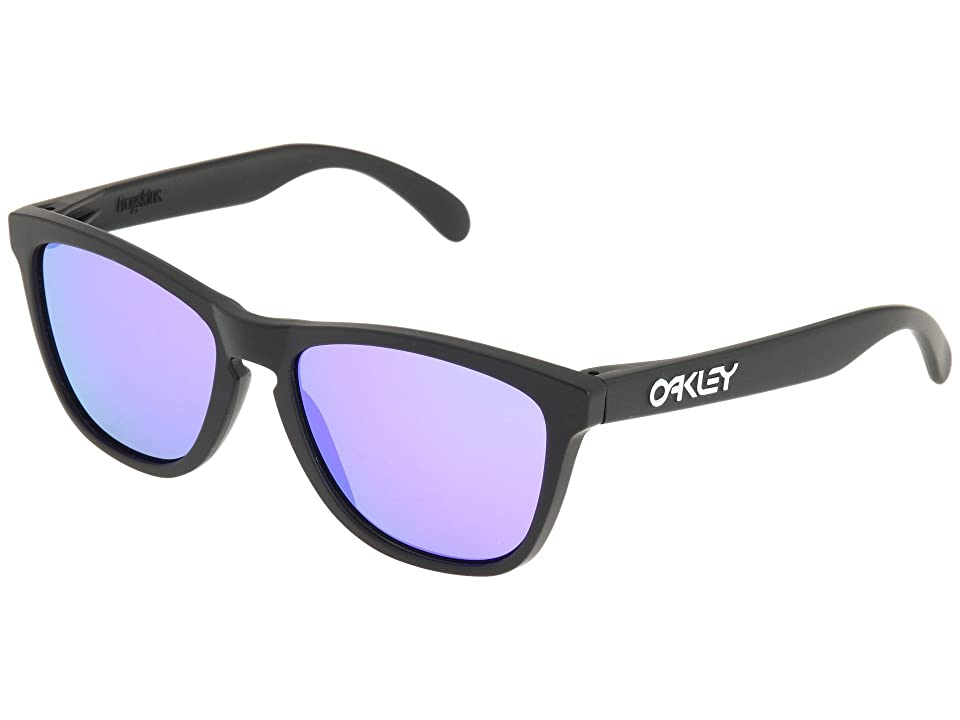 Oakley Frogskins(r) (Matte Black/Violet Iridium Lens) Sport Sunglasses