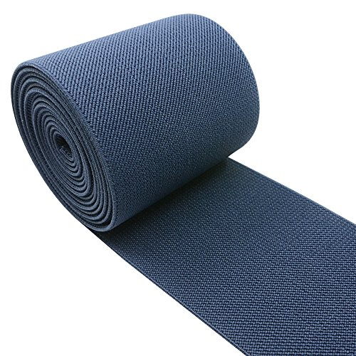 iCraft 3-Inch Wide by 2-Yard Colored Woven Elastic Band,Navy Blue14020