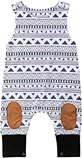Newborn Kid Baby Boy Girls Print Sleeveless Romper Jumpsuit Outfits Summer Clothes