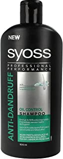 SYOSS Anti-Dandruff Shampoo for Oily Hair XL Bottle 500ml/16.9 fl oz Made in Europe