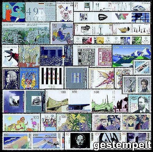 Goldhahn BRD-Einzelwerte aus Bl.23-53 gestempelt Briefmarken für Sammler