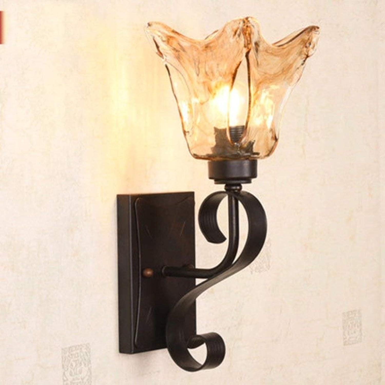 Schlafzimmerlampe Eisen Wandleuchte Retro Spiegel Frontleuchten Wohnzimmer Hintergrund Wandleuchten Wandleuchten Wandleuchten Schlafzimmer Nachttischlampe Einfache Eisen Lampe Originalität B07PZC84JJ   Passend In Der Farbe  f067f5