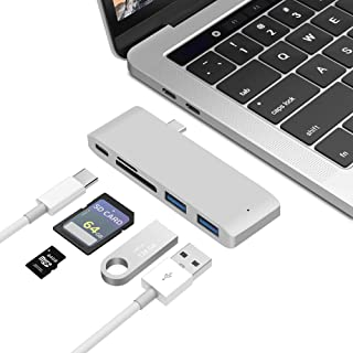 HUATINGRHDS Docking Station,Macbook hub hub convertidor USB-C a HDMI Splitter Type-c Lector de estación de Acoplamiento Ty...