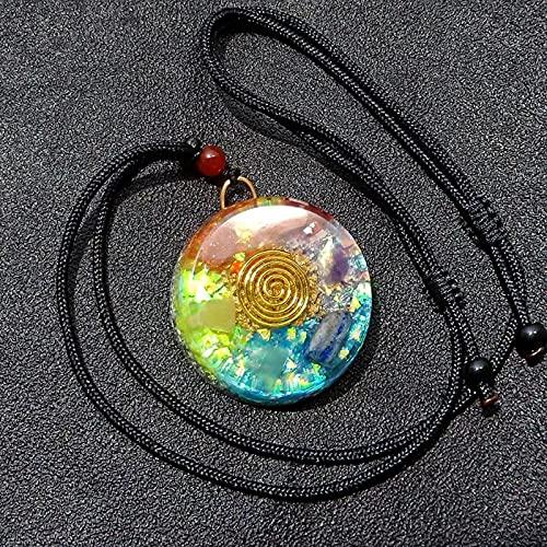 Orgonite Power Stone Seven Chakra Crystal Gem Colgante Healing Meditación Collar Color