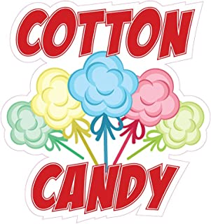 Cotton Candy Concession Restaurant Food Truck Die-Cut Vinyl Sticker 10 inches