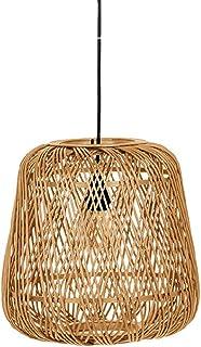 NAMFMSC Lampes suspendues pastorales Simples de Style Chinois Art du Bambou Luminaire de Tissage de Bambou Lustre de Lante...